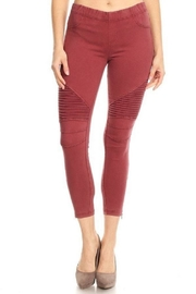 BEULAH STYLE Moto Pant - Front cropped