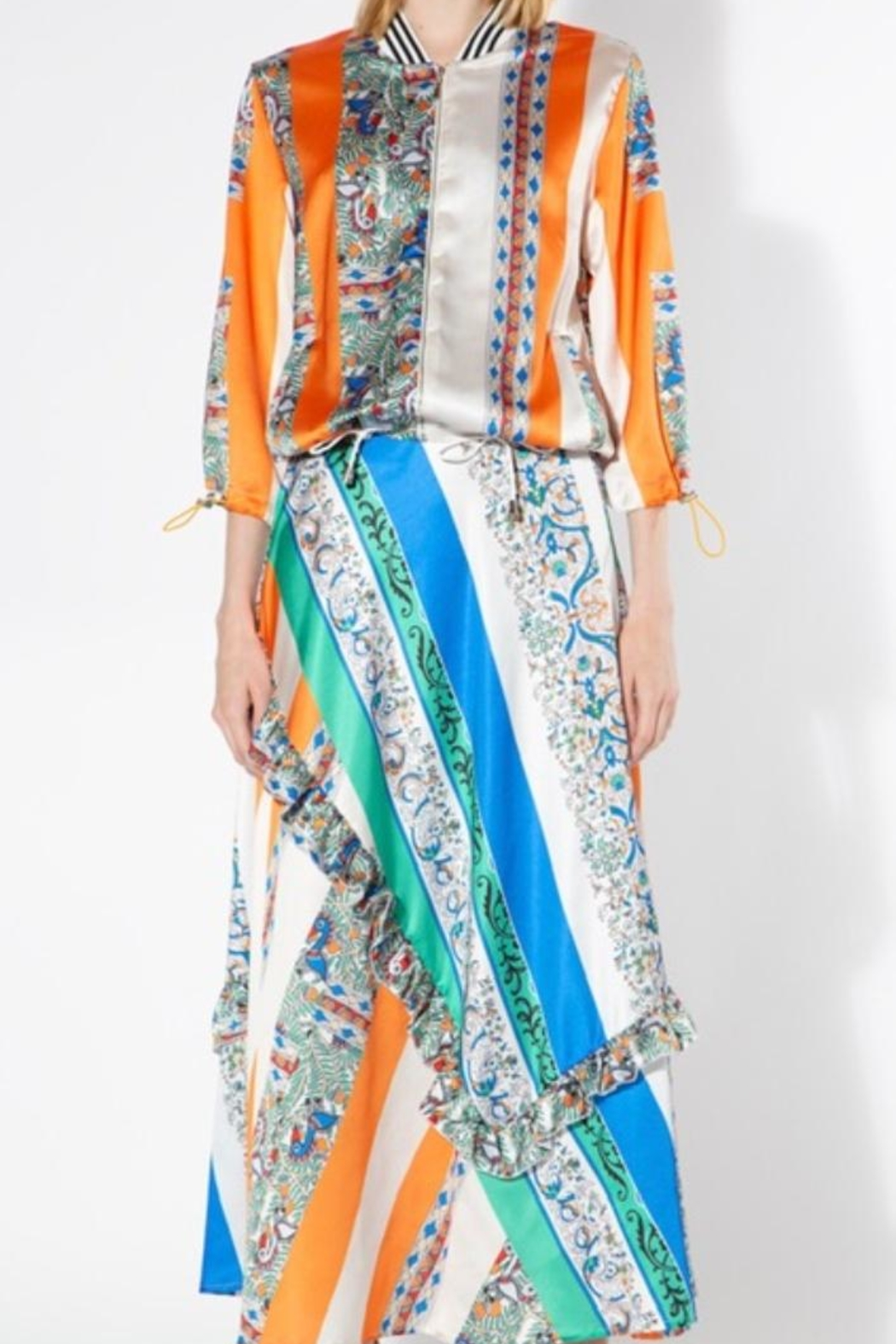 BEULAH STYLE Multicolored Silk Skirt - Side Cropped Image