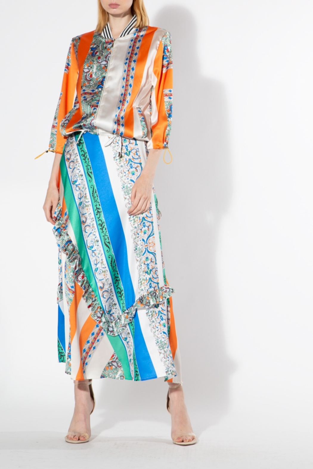 BEULAH STYLE Multicolored Silk Skirt - Main Image