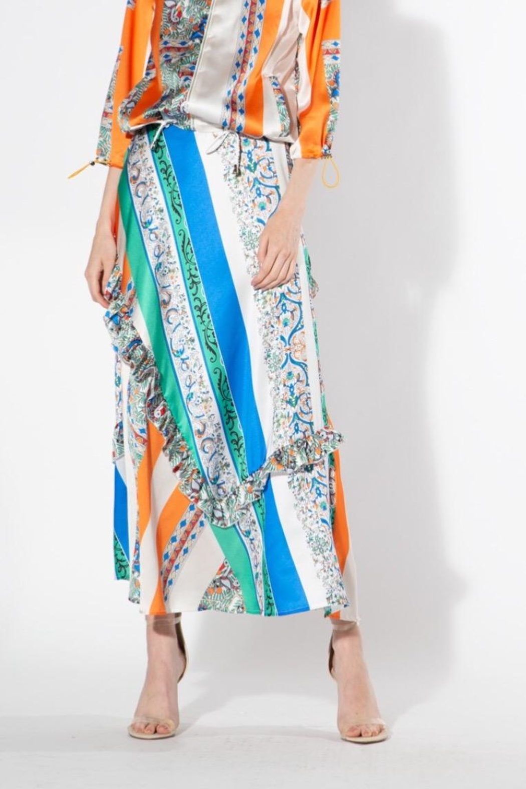 BEULAH STYLE Multicolored Silk Skirt - Front Cropped Image