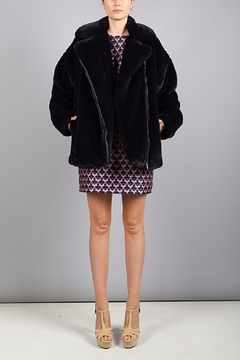 BEULAH STYLE Navy Fur Jacket - Product List Image
