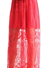 BEULAH STYLE Rose Red Dress - Side cropped