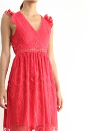 BEULAH STYLE Rose Red Dress - Front full body