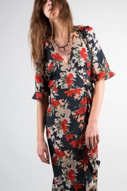 BEULAH STYLE Ruffle Wrap Dress - Front cropped