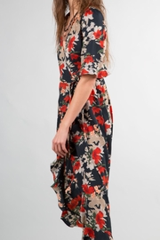 BEULAH STYLE Ruffle Wrap Dress - Side cropped