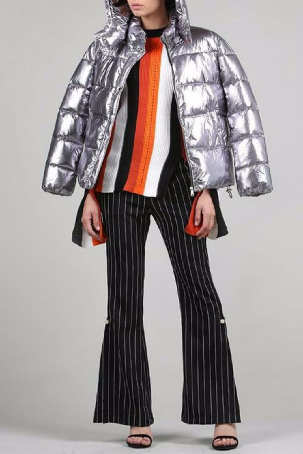 BEULAH STYLE Silver Puffy Jacket - Main Image