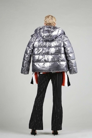 BEULAH STYLE Silver Puffy Jacket - Back cropped