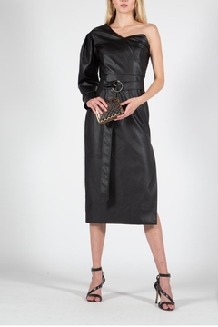 BEULAH STYLE Vegan Leather Dress - Product List Image