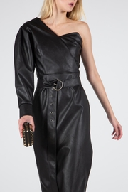 BEULAH STYLE Vegan Leather Dress - Back cropped