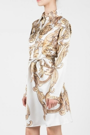 BEULAH STYLE White/gold Print Shirt - Product Mini Image