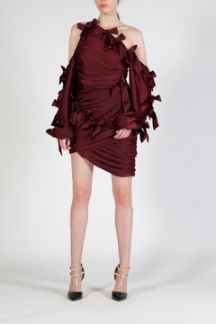 BEULAH STYLE Wine Ribbon Dress - Product List Image