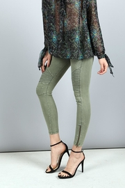 BEULAH STYLE Zip Moto Jeggings - Product Mini Image