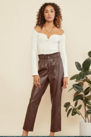 Lucy Paris  Bev Knit Sweater - Front cropped