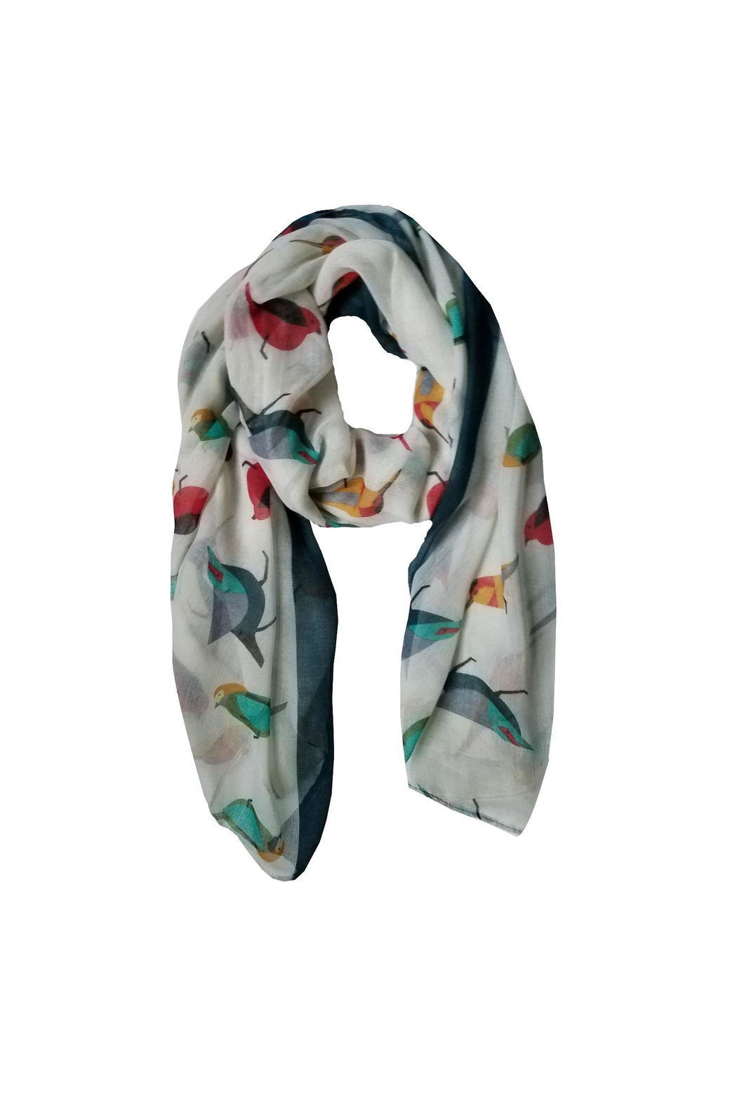 BEVA Birds Scarf - Front Cropped Image