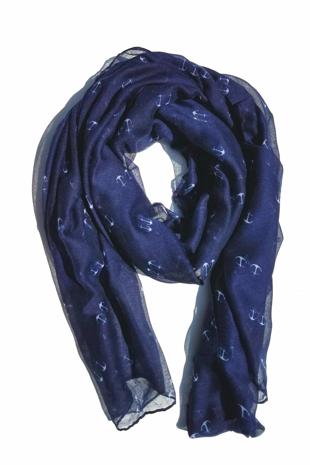 BEVA Nautical Anchor Scrarf - Front Cropped Image