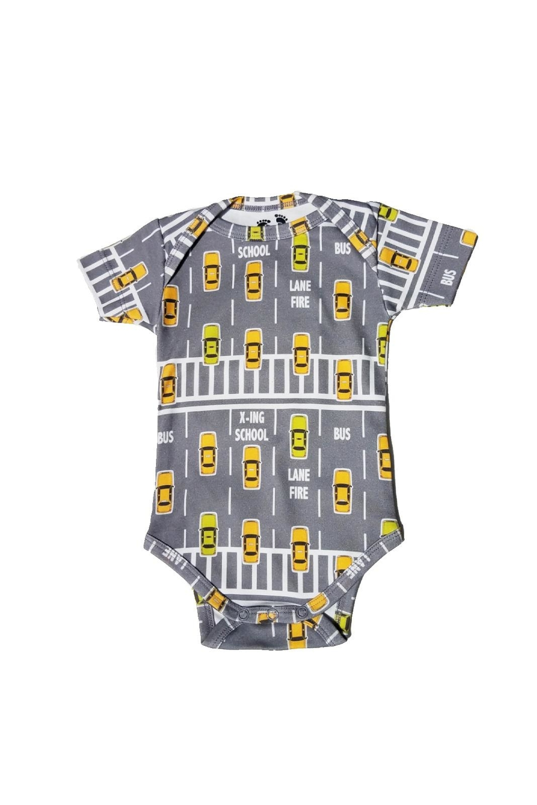 BEVA Organic Yellow-Taxi Onesie - Front Cropped Image