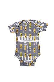 BEVA Organic Yellow-Taxi Onesie - Front cropped