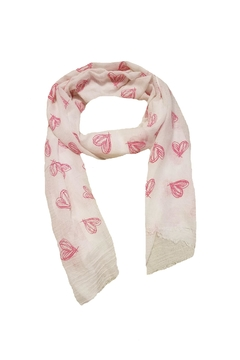 Shoptiques Product: Scarf With Hearts
