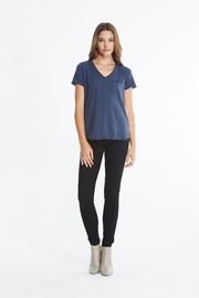 Comune Beverly V Neck Top w Pocket - Front cropped