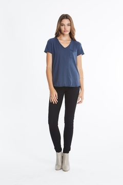 Comune Beverly V Neck Top w Pocket - Alternate List Image