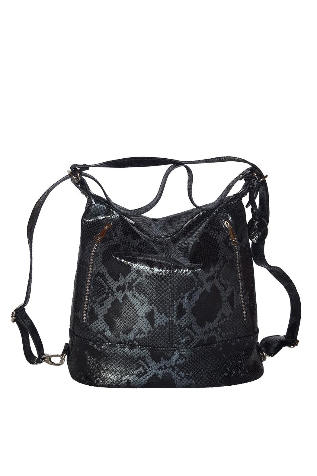 Bevini Modena Python Convertible Backpack-Tote - Front Full Image