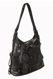 Bevini Modena Python Convertible Backpack-Tote - Product Mini Image