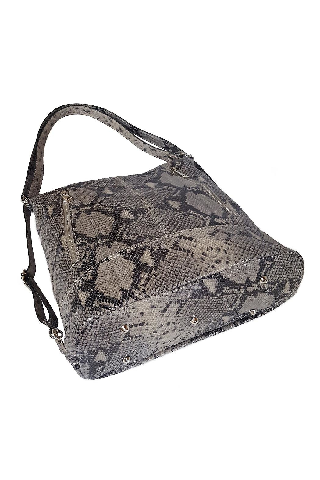 Bevini Modena Python Convertible Backpack-Tote - Back Cropped Image