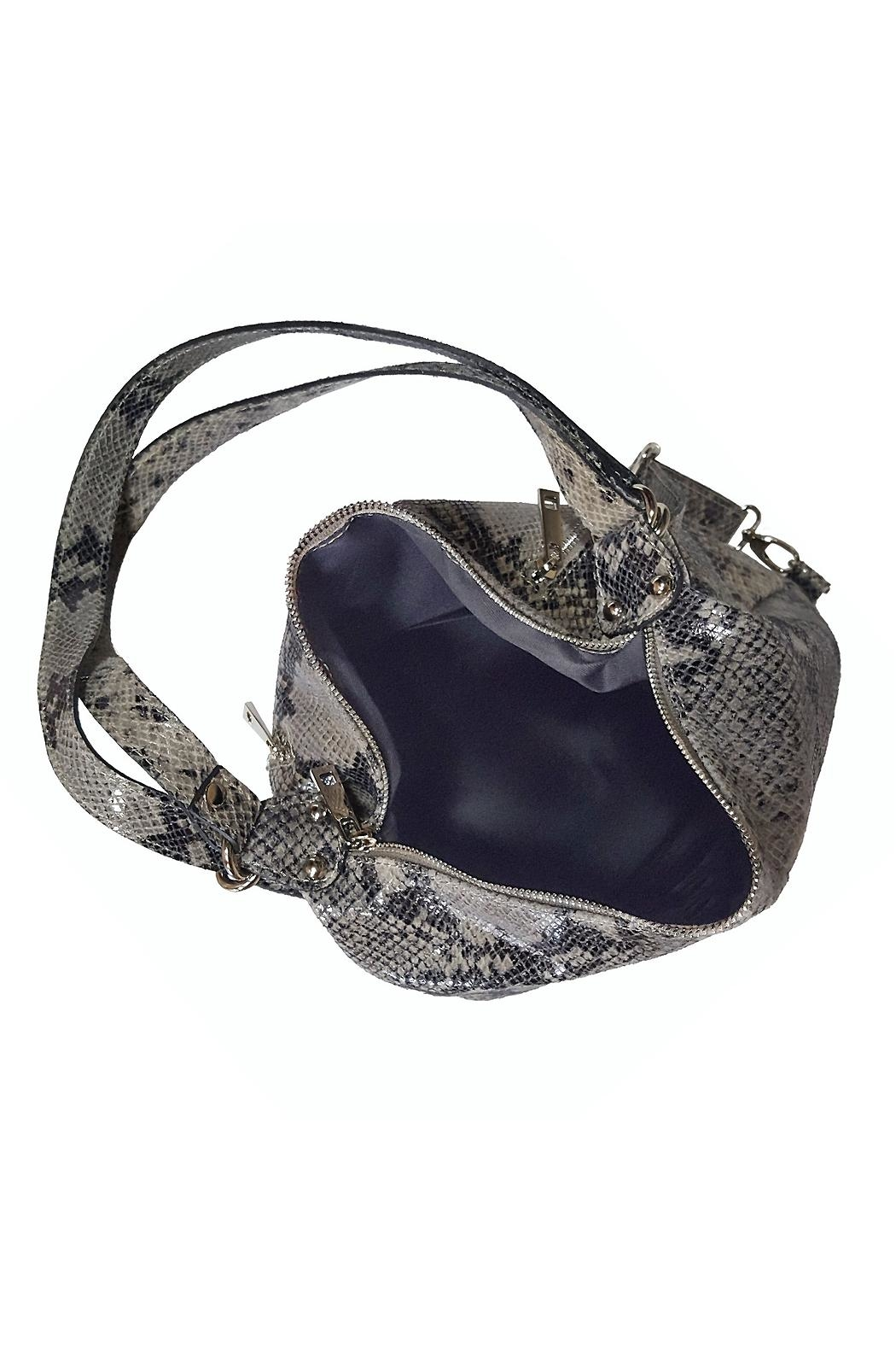 Bevini Modena Python Convertible Backpack-Tote - Side Cropped Image