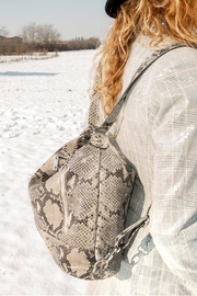Bevini Modena Python Convertible Backpack-Tote - Other