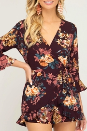 She + Sky Bex Floral Romper - Product Mini Image