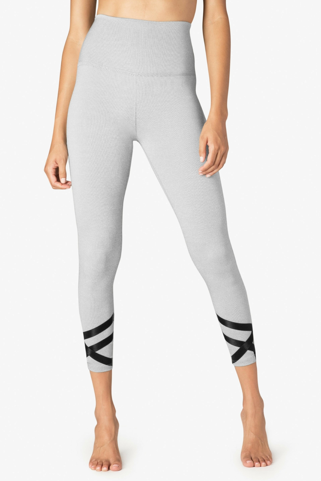 Beyond Yoga Ballet Strappy Leggings - Front Cropped Image