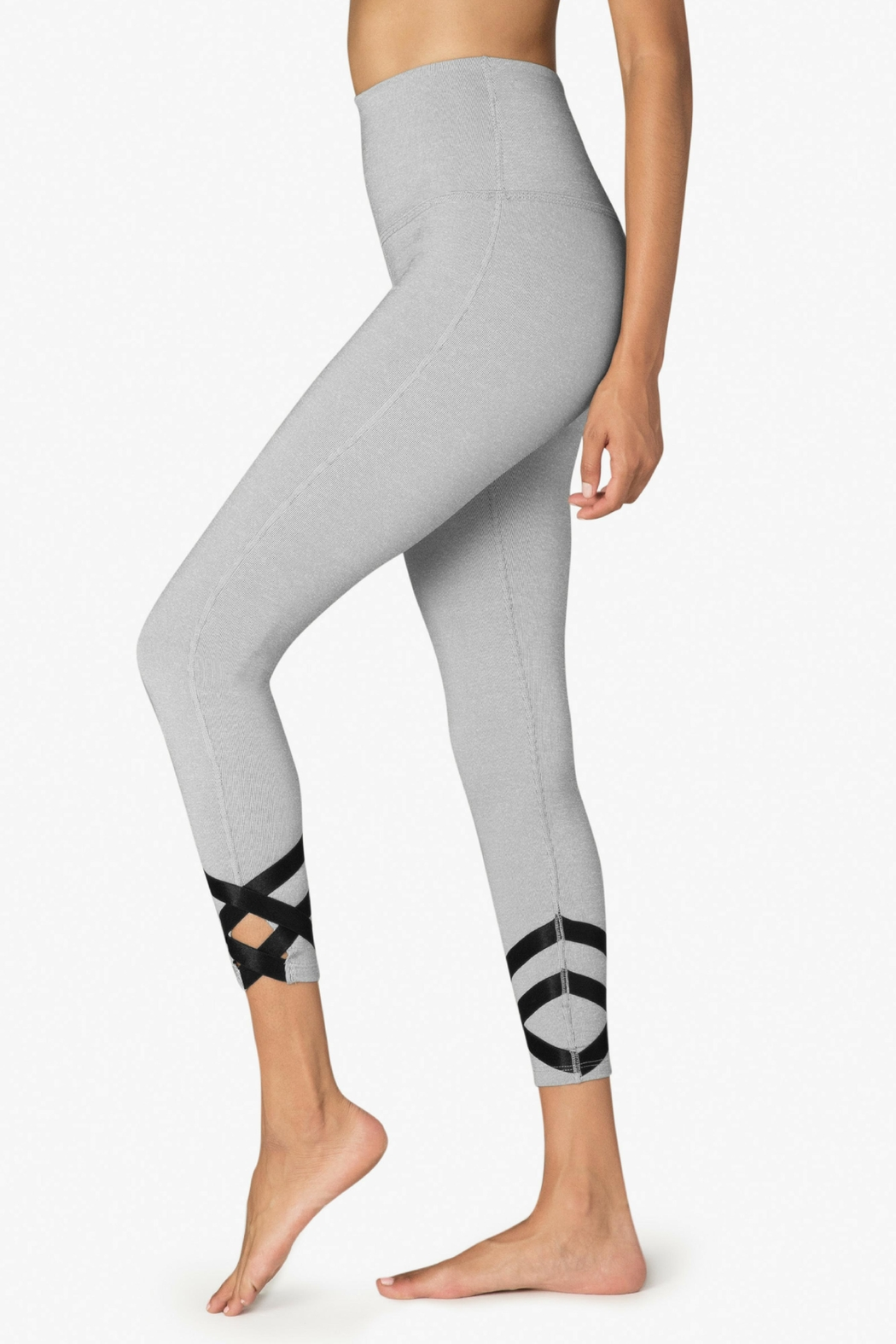 Beyond Yoga Ballet Strappy Leggings - Front Full Image