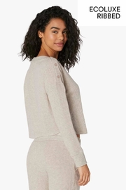 Beyond Yoga Buttoned Boxy Pullover - Front full body