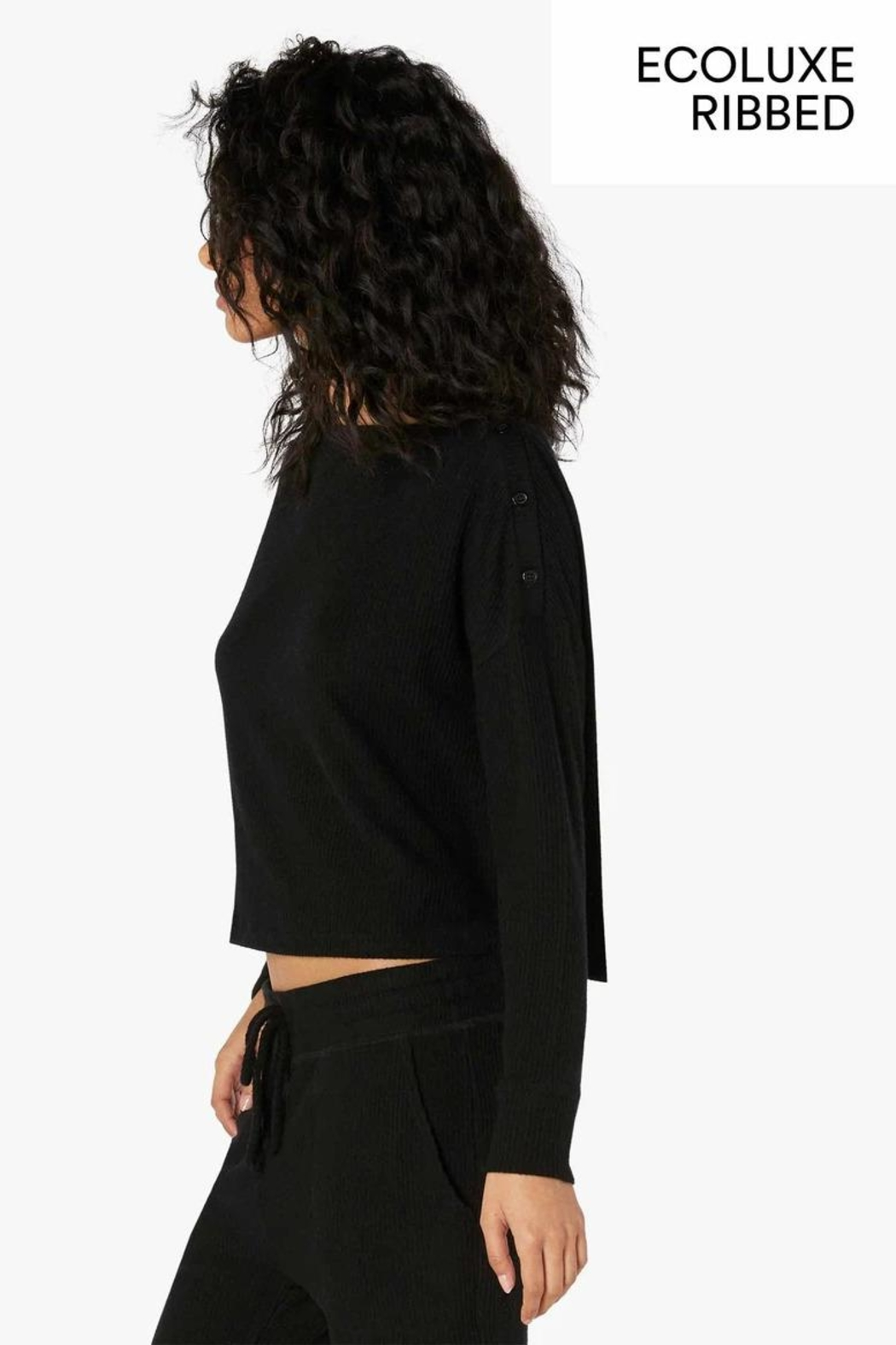 Beyond Yoga Buttoned Boxy Pullover - Front Full Image