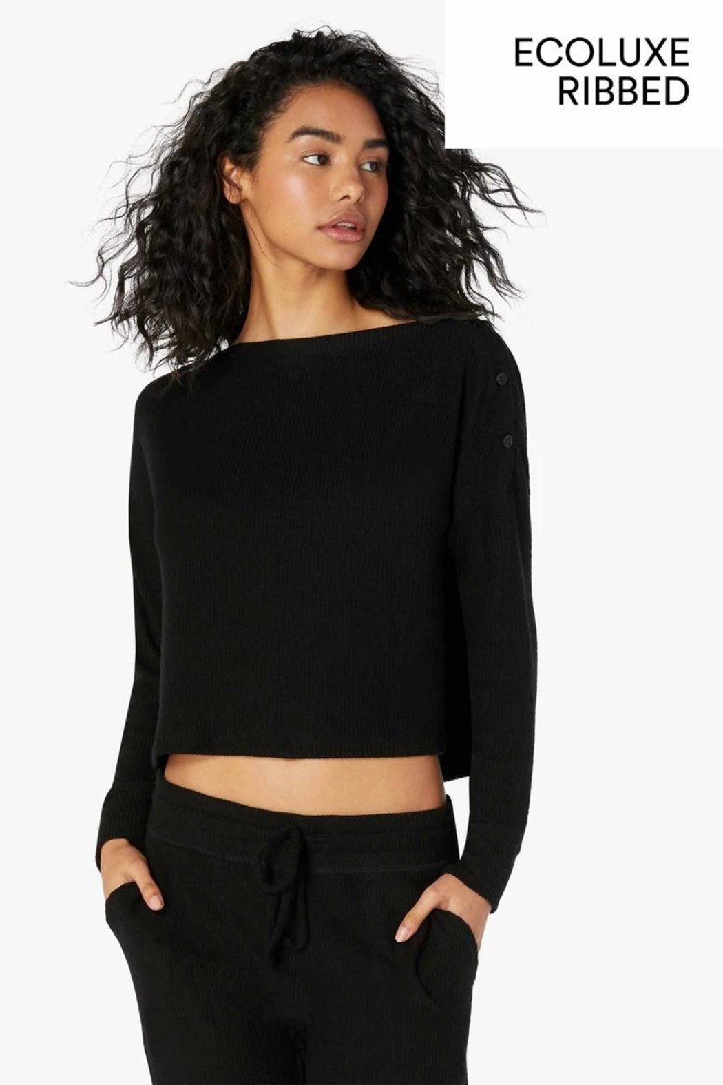 Beyond Yoga Buttoned Boxy Pullover - Main Image