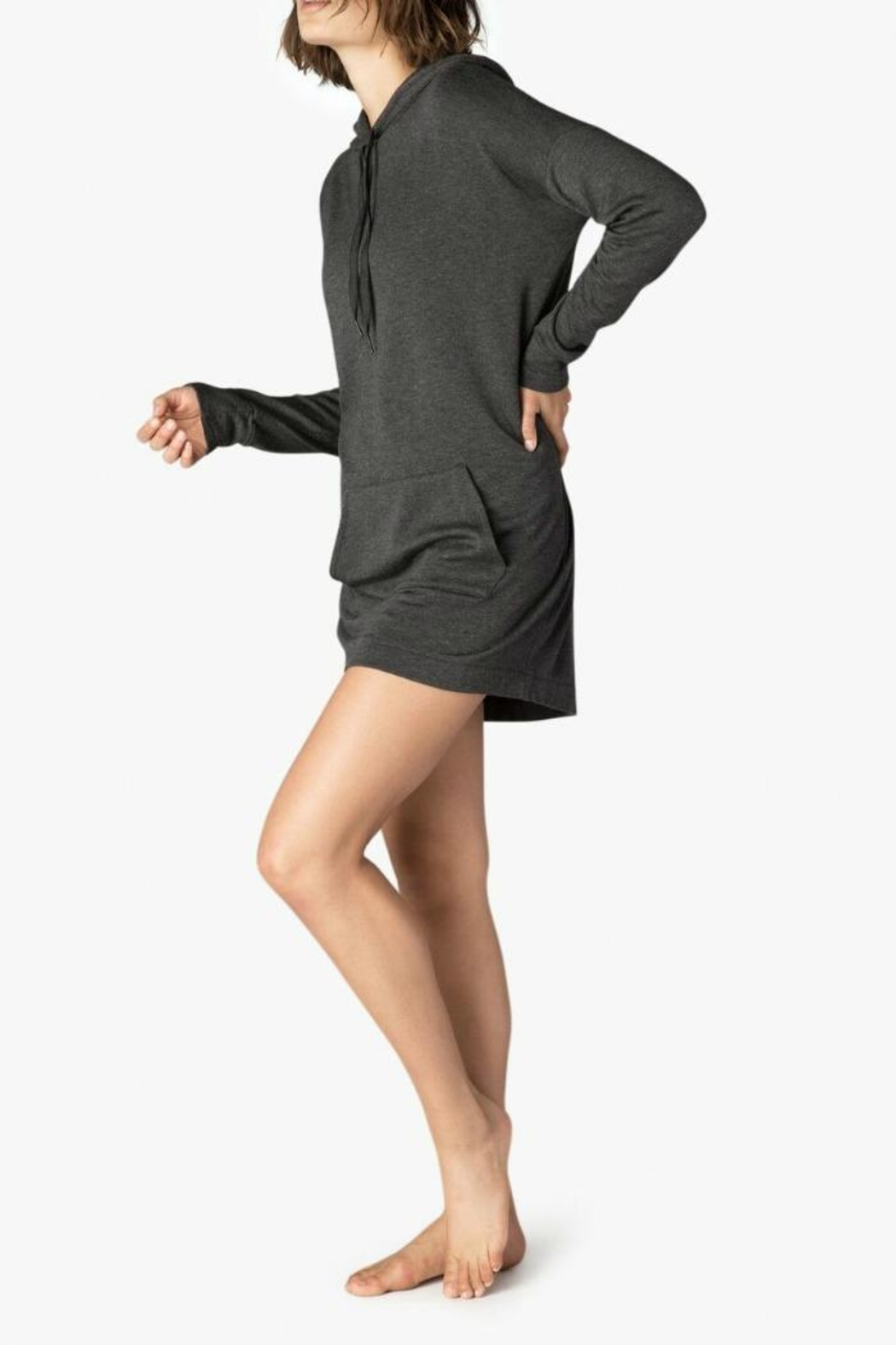 Beyond Yoga Cozy Hoodie Dress - Front Full Image