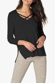 Beyond Yoga Criss-Cross Pullover - Front cropped