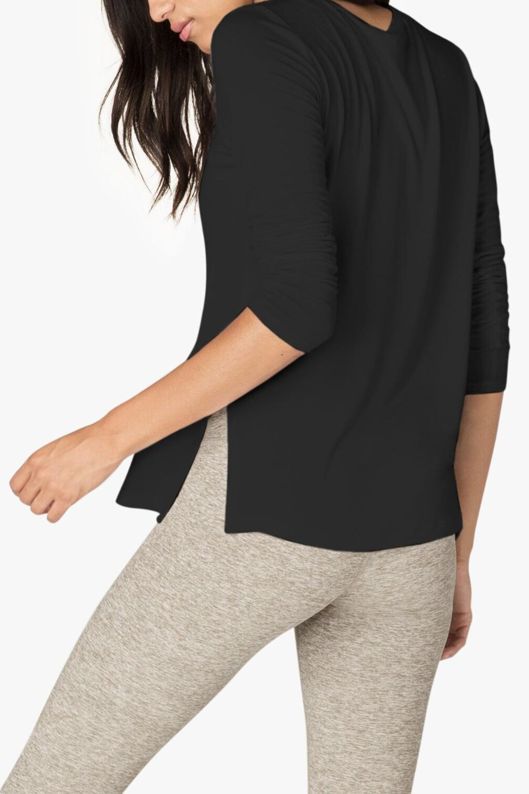 Beyond Yoga Criss-Cross Pullover - Side Cropped Image