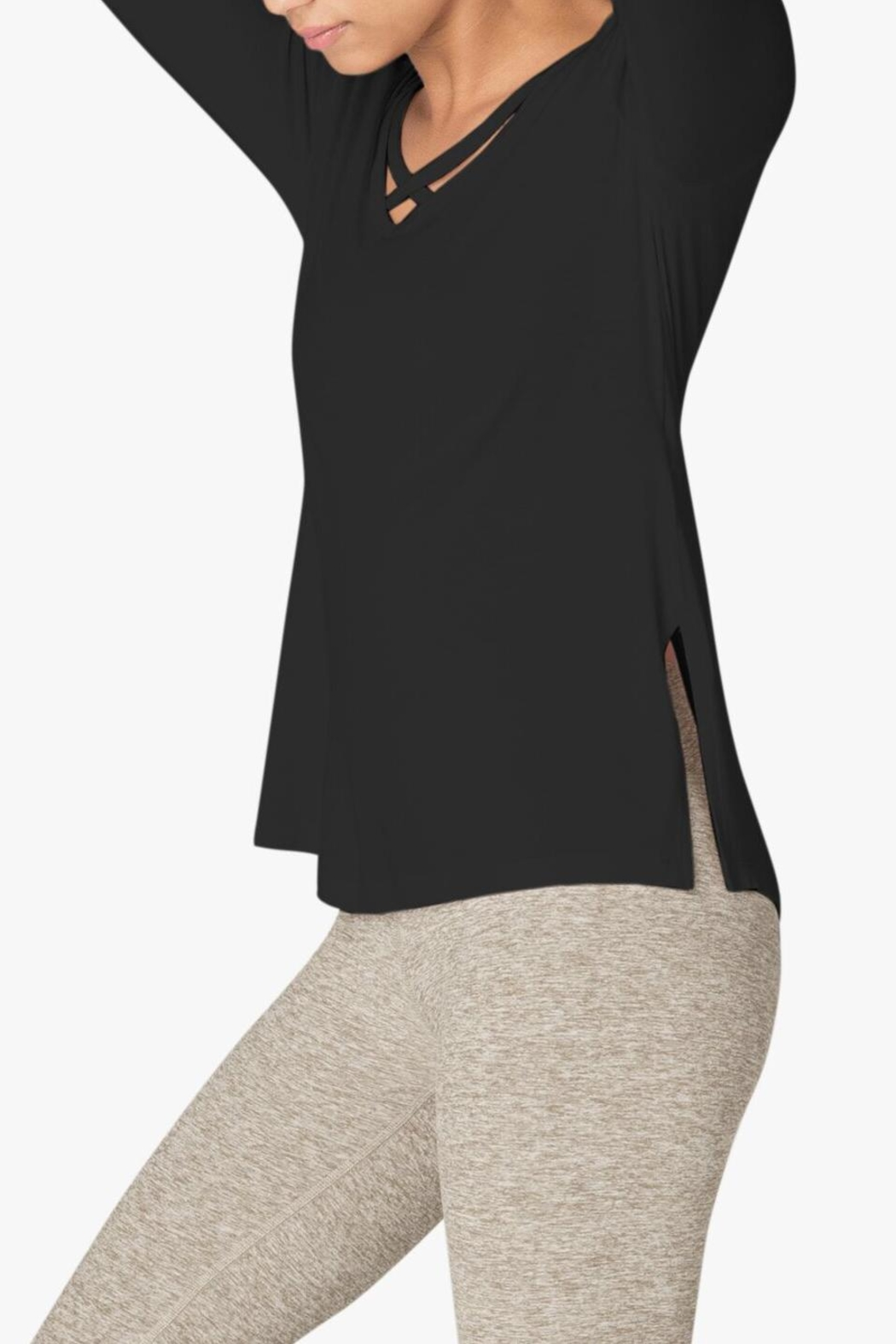 Beyond Yoga Criss-Cross Pullover - Front Full Image