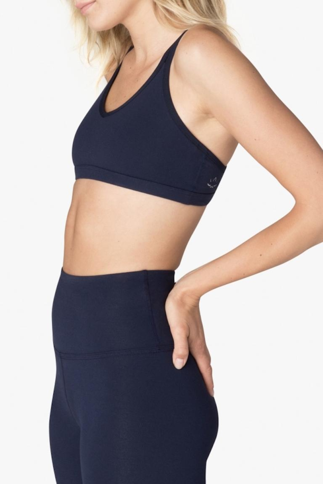 Beyond Yoga Double Back Bra - Side Cropped Image