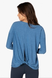 Beyond Yoga Draw The Line Pullover - Front full body
