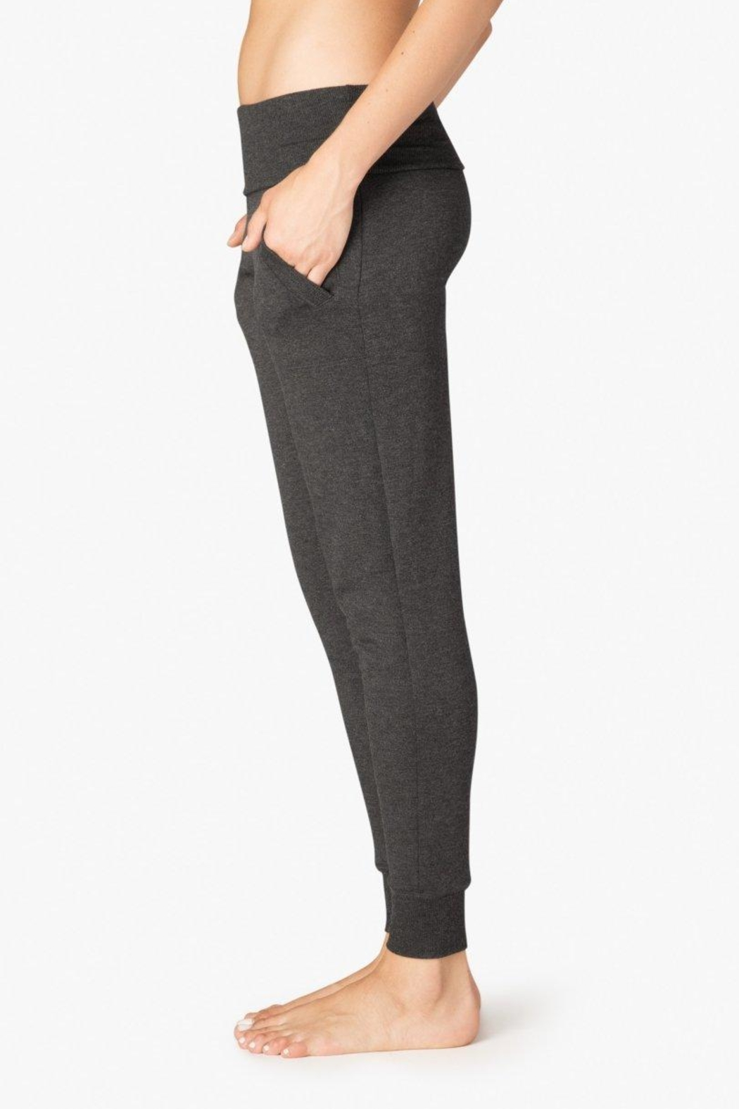 Beyond Yoga Fleece Foldover Sweatpant - Front Full Image