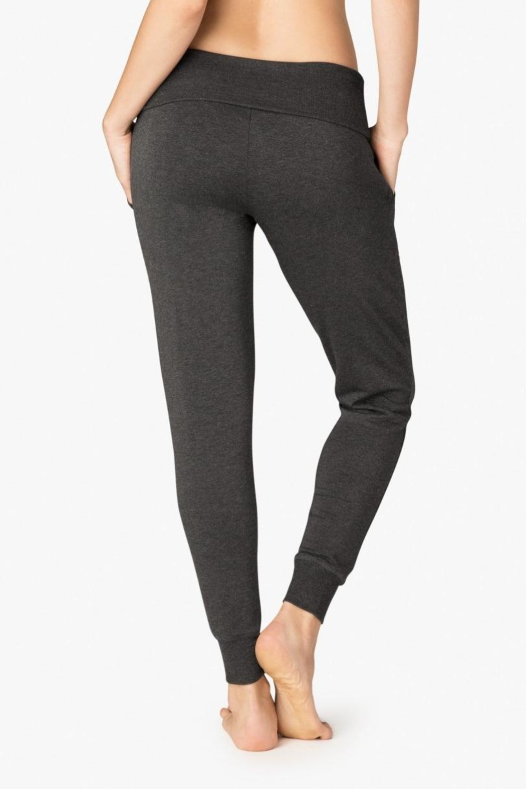 Beyond Yoga Fleece Foldover Sweatpant - Side Cropped Image