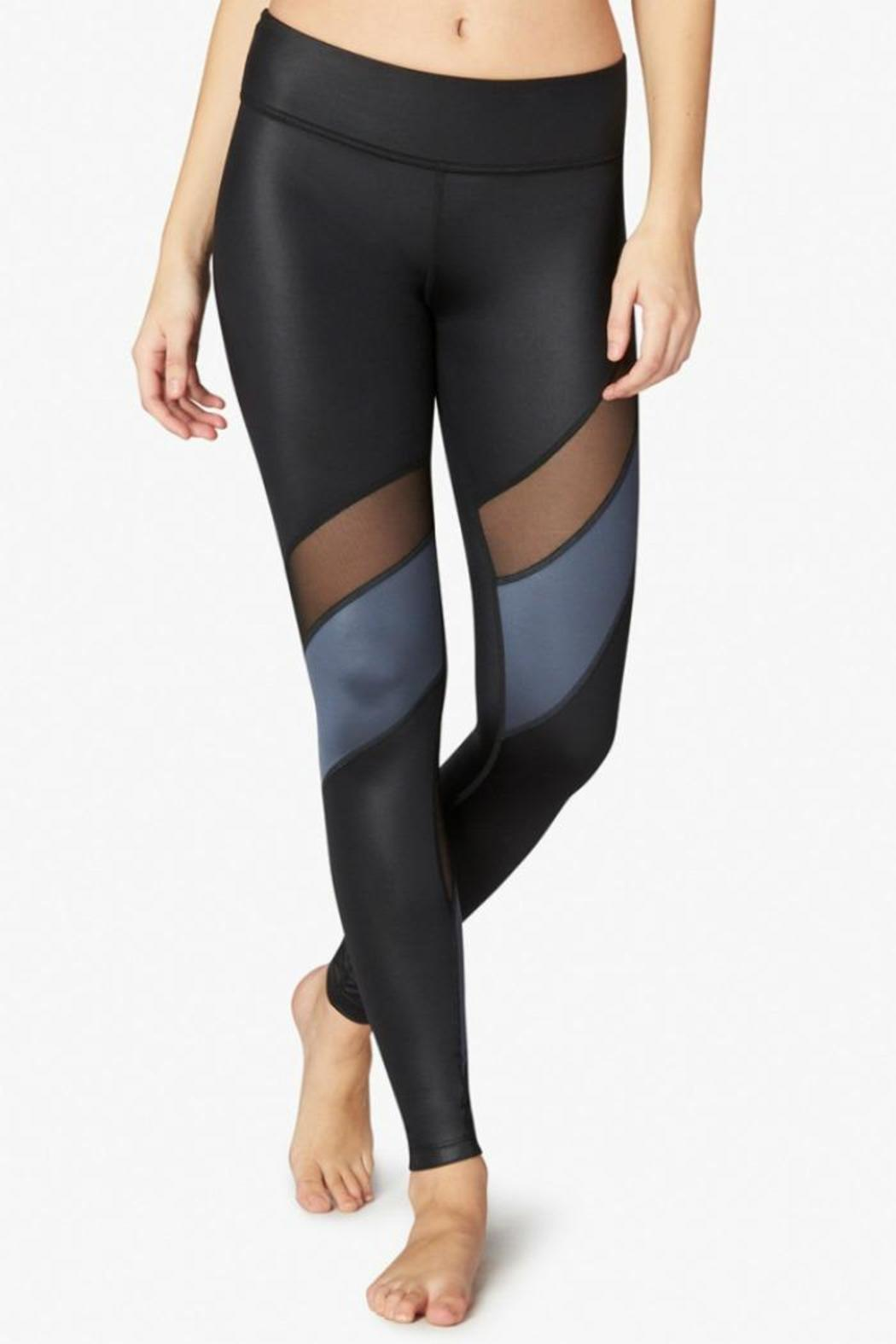 Beyond Yoga Gloss Mesh Legging - Front Cropped Image