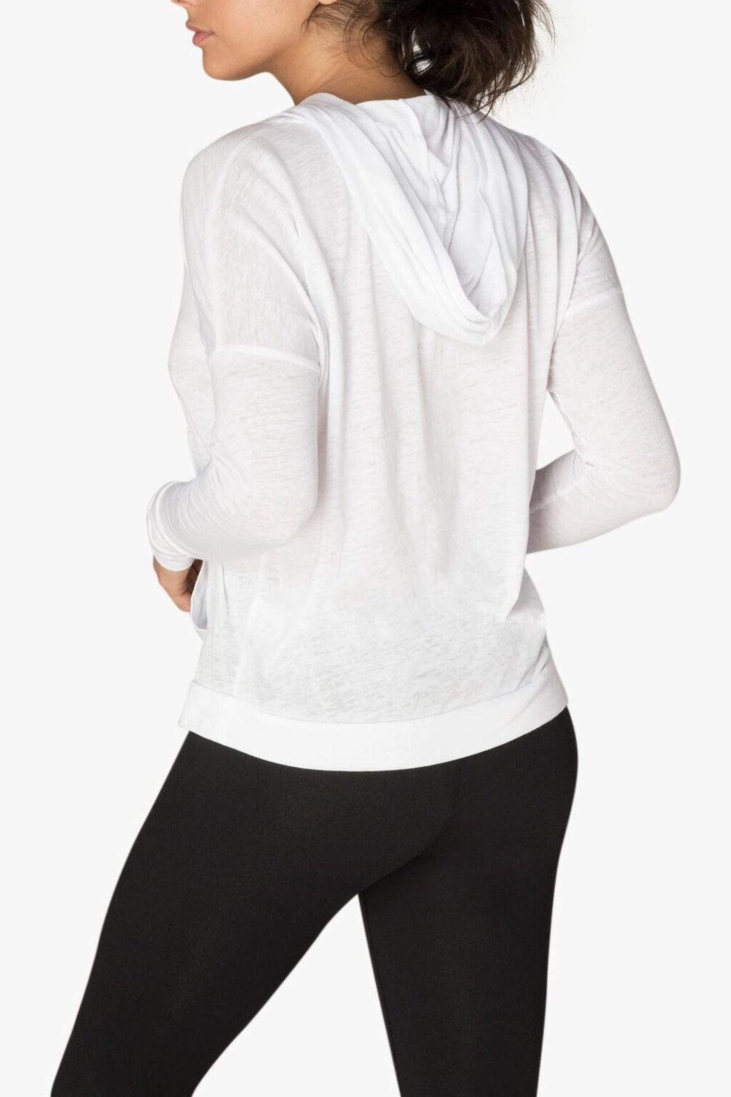 Beyond Yoga Hooded Pullover - Side Cropped Image