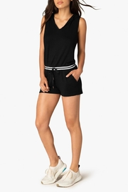 Beyond Yoga Hooded Varsity Romper - Product Mini Image