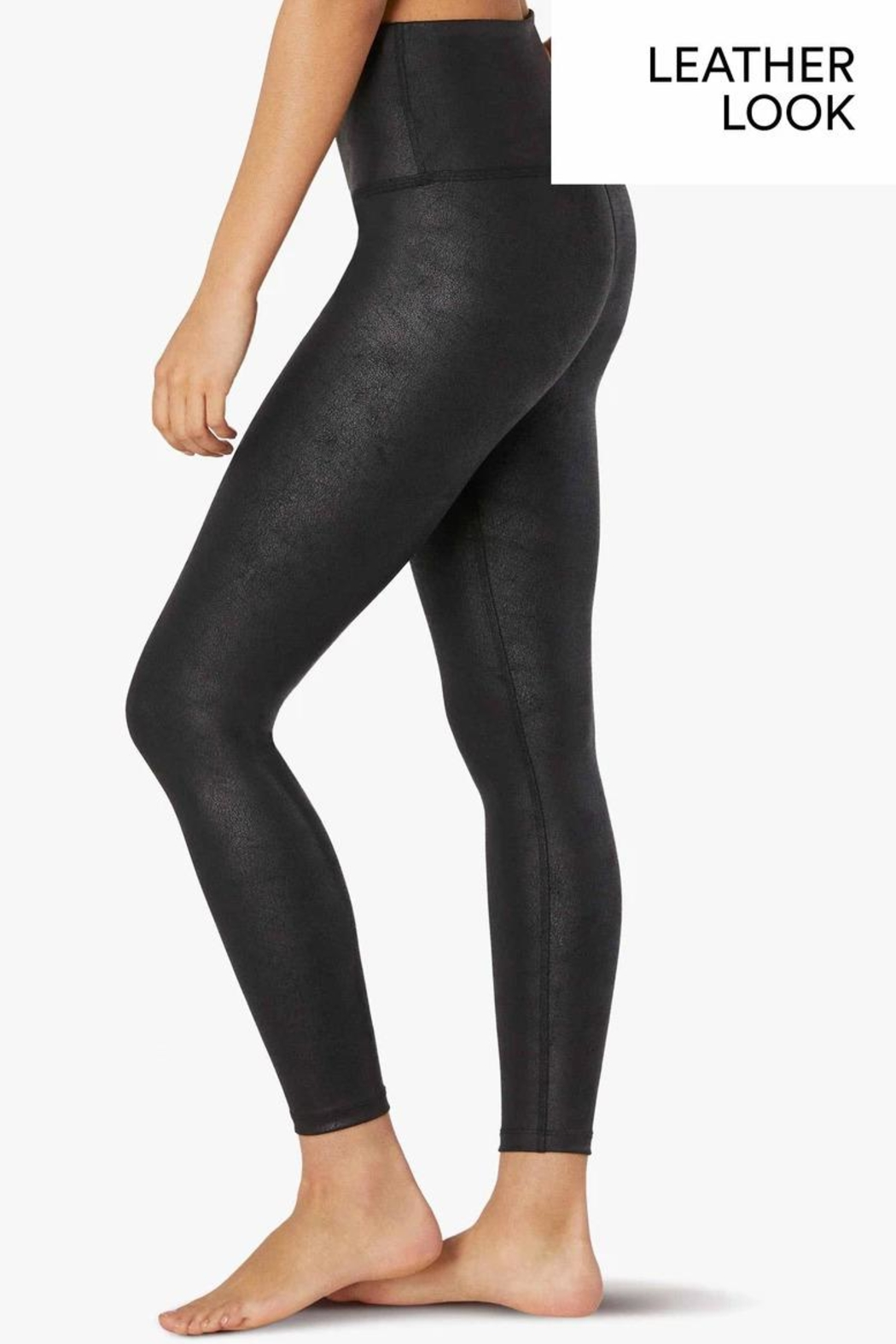 Beyond Yoga Leatherette High-Waisted Midi - Front Full Image