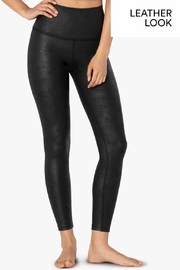 Beyond Yoga Leatherette High-Waisted Midi - Front cropped