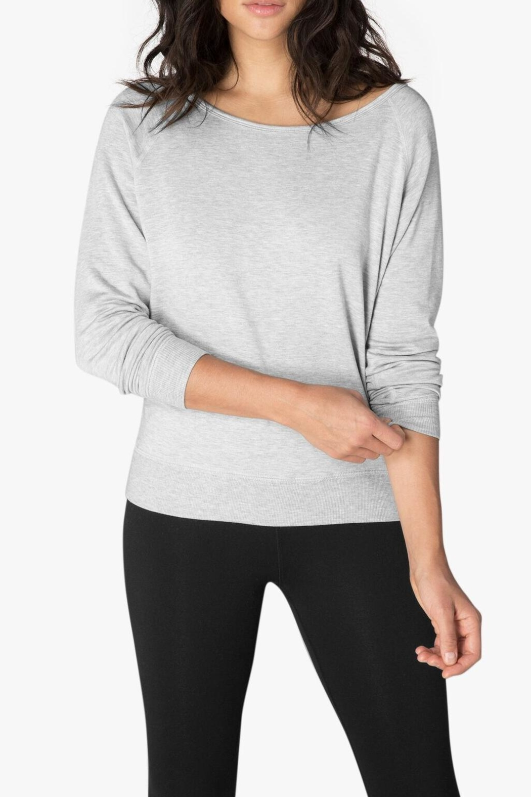 Beyond Yoga Long Sleeve Pullover - Front Cropped Image