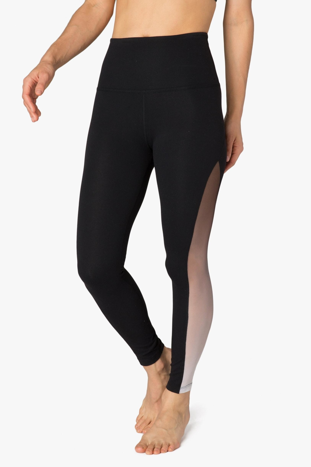 Beyond Yoga Ombre Mesh Legging - Side Cropped Image